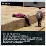 Así se practica el yoga en Guatemala apareció en miPeriódico