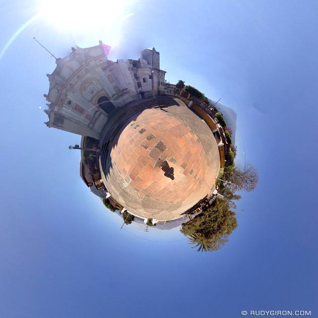 Rudy Giron: Tiny Planets &emdash; The tiny little planet of San Juan del Obispo, Antigua Guatemala