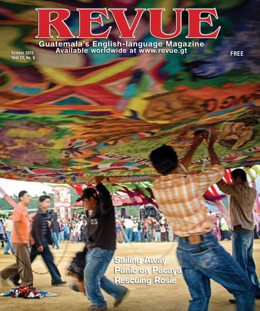 Revue Magazine cover october 2013 by Rudy Giron