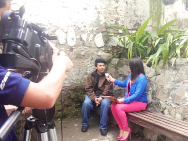 Foto de la entrevista de Rudy Girón por TeleVos por Miguel Estrada