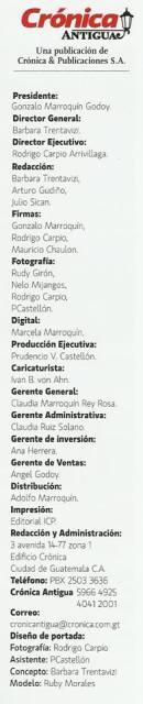 Participando con la fotografía en la revista Crónica Antigua