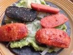 Comida guatemalteca: Mixta en tortilla azul