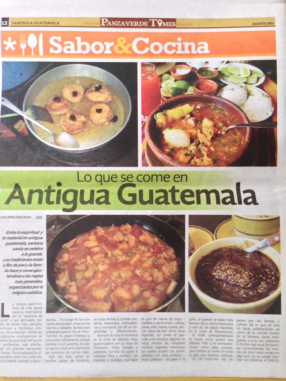 Panza Verde Times publica dos de mis fotografías de comida guatemalteca