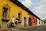 Engagement Street Photography Session in Antigua Guatemala by Rudy Giron