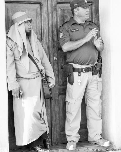 Rudy Giron: Antigua Guatemala &emdash; Street Photography — The Cucurucho and The Cop